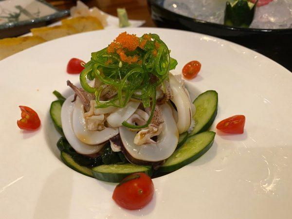 Pairing Notes - Ika ponzu salad