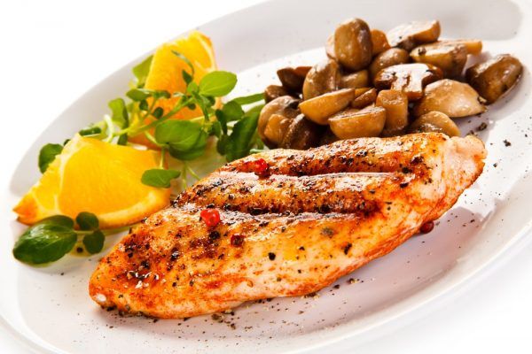Pairing Notes - Grilled chicken fillet with mushrooms and oranges